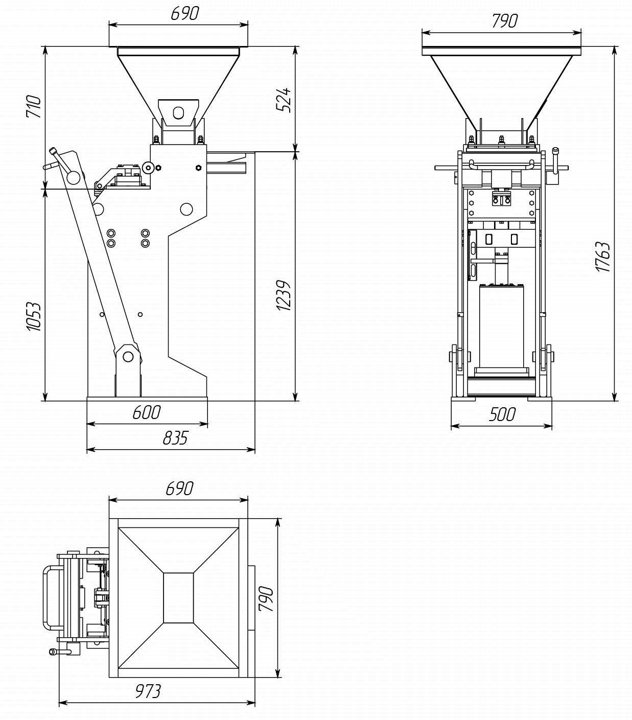 Схема станка для лего кирпича своими руками 92